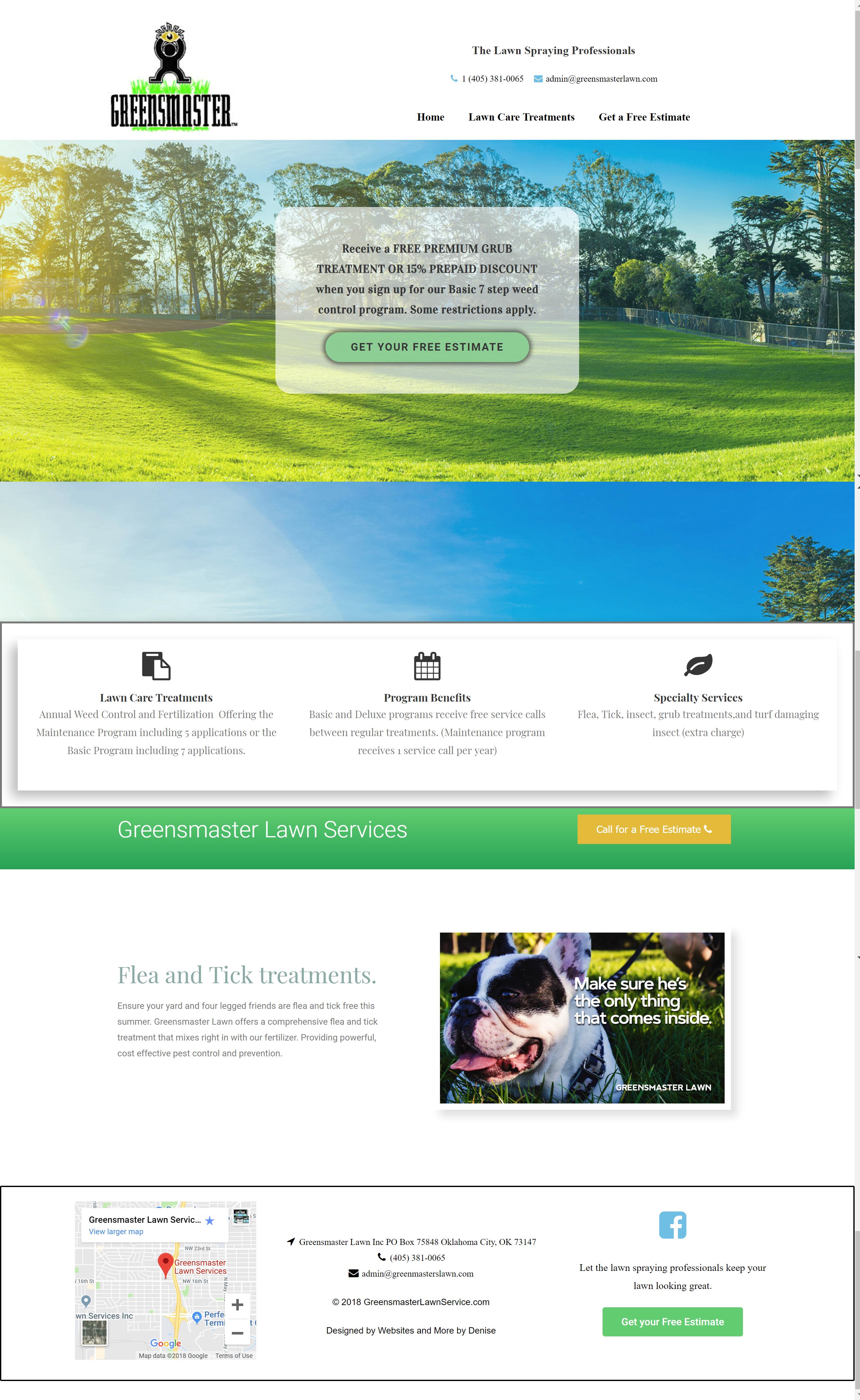 Greensmaster Lawn website makeover