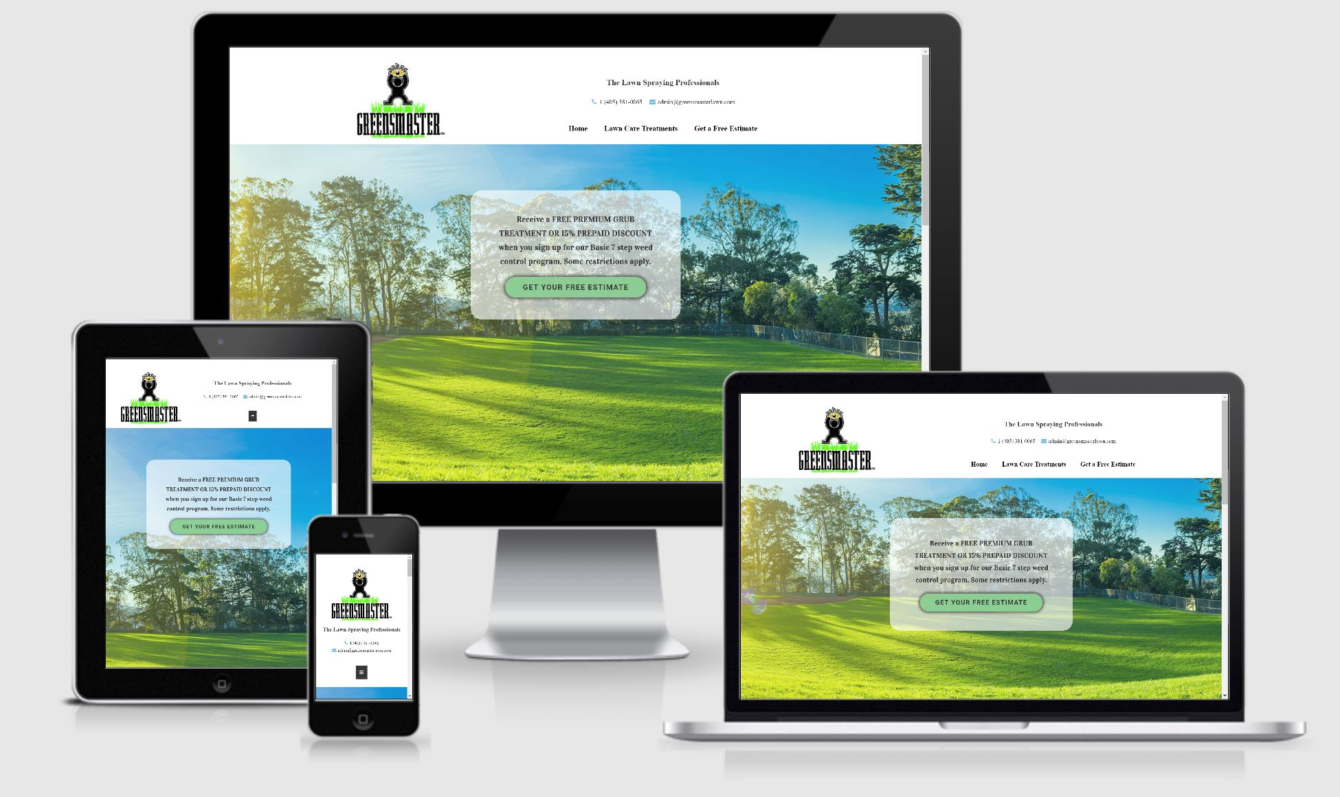 Greensmaster Lawn website makeover