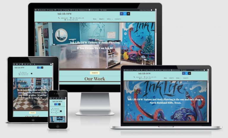 Ink Life DFW website makeover
