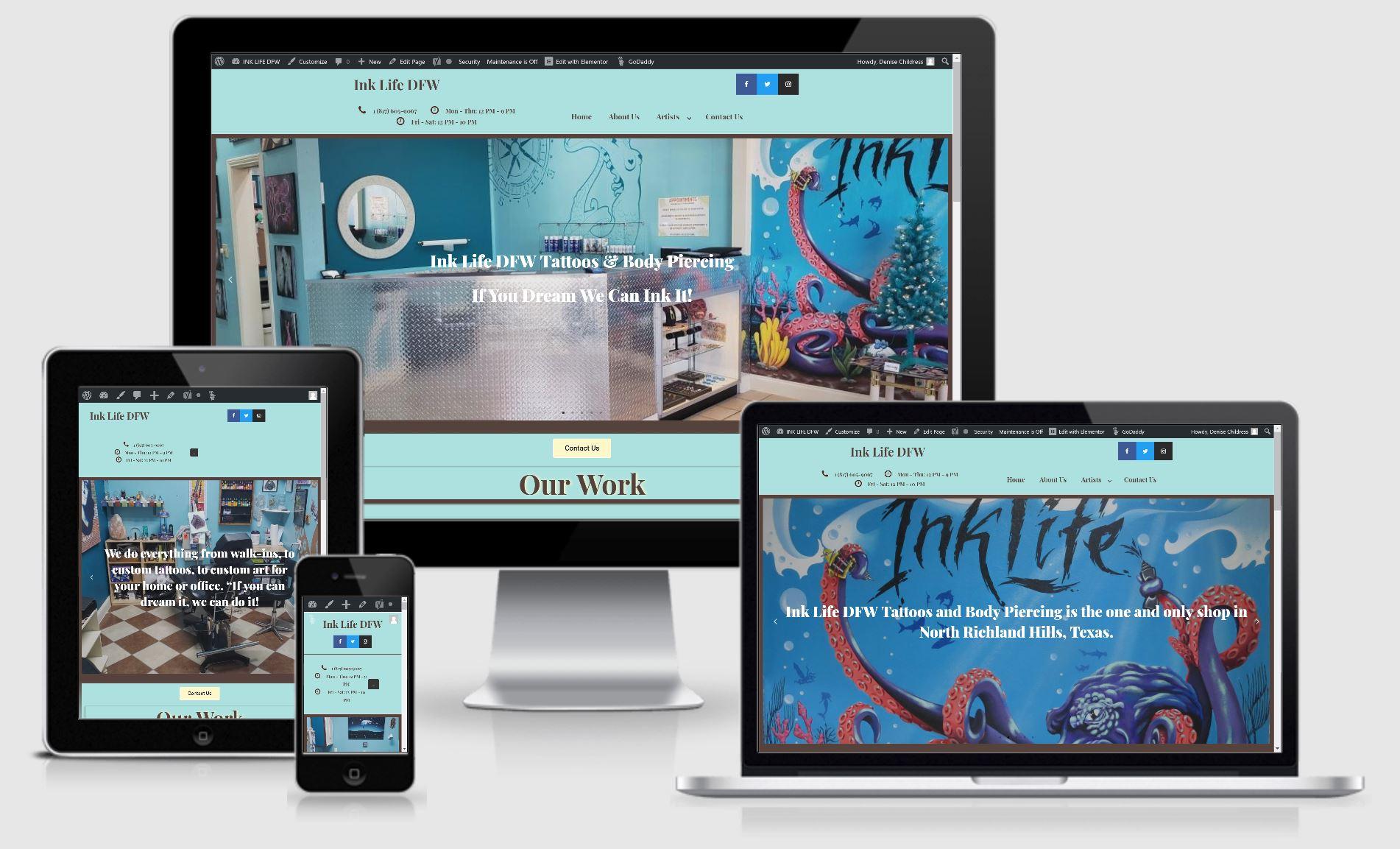 Ink Life DFW website makeover